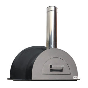 The Mila 60 in dark grey pizza oven