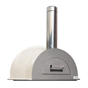 The Mila 60 in light cream pizza oven