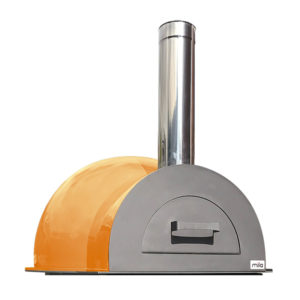 The Mila 60 in orange pizza oven