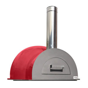 The Mila 60 in red pizza oven