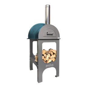 Mila 60 in teal with legs pizza oven