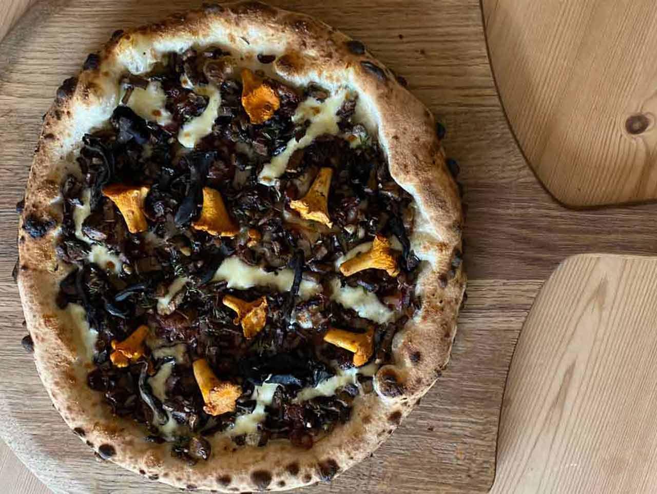James Strawbidge Mushroom pizza